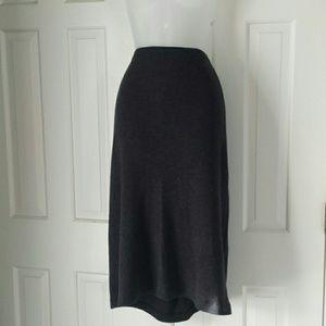 Eileen Fisher wool long skirt gray size XL